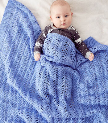 Make A Lacy Knit Baby Blanket