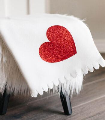 Make A Glitter Heart Blanket