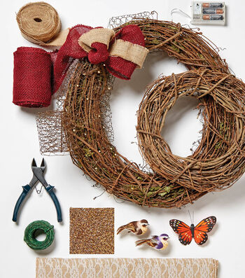 How To Make Handcrafted Chicken Wire Wreath