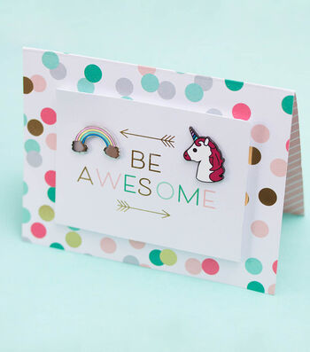 How To Make A Unicorn Pin Card