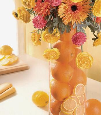 Tall Floral & Citrus Arrangement