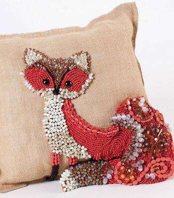 Beaded Fox Pillow