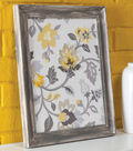 Embroidered Fabric Framed