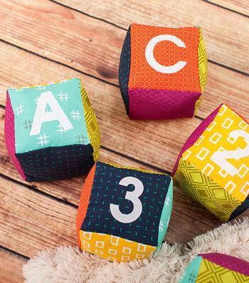 How To Make Fabric Baby Blocks