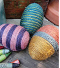 Yarn Wrapped Festive Eggs