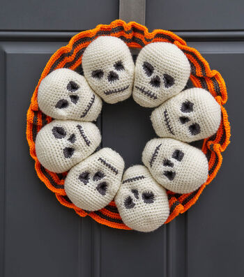 How To Make A Crochet Skeleton Wreath