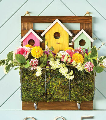 How To Make A Wood BirdHouse Springtime Planter