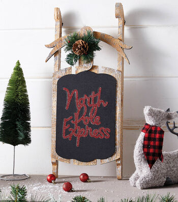 How To Make A North Pole Express Chalkboard