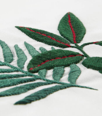 How To Make Rubber Plant and Fern Embroidery