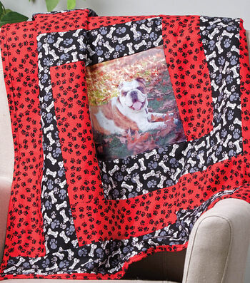 How To Make A Mini Dog Quilt With Transfer Paper