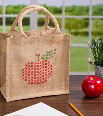 Cross-Stitch Apple Bag