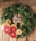 Rosette Holiday Wreath