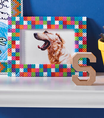 How To Make Color Block 4x6 Perler Bead Photo Frame