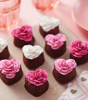 How To Make Rose Brownies