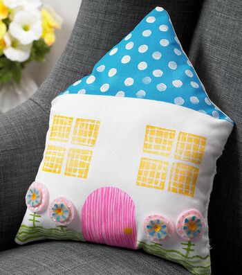 How To Make A Whimsical House Pillow