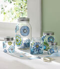 Modern Blossom Glass Canister Set