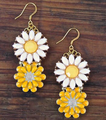 How To Make Wild Flower Earrings