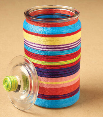 how To Make A String Covered Glass Jar