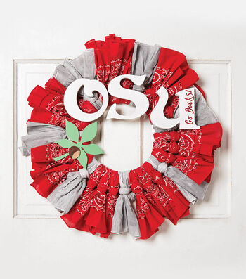 How To Make An OSU Bandana Wreath