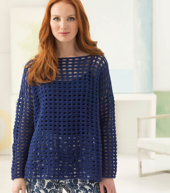 How To Crochet A Breezy Mesh Pullover