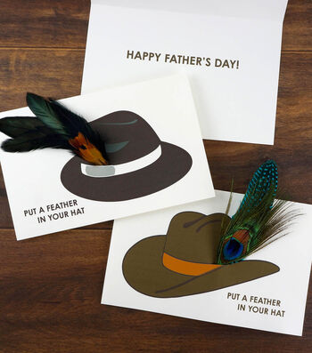 How To Make A Fathers Day Feather Hat Card