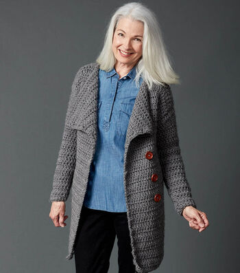 How To Make A Big Collar Crochet Coat