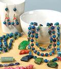 Blue Orange Jewelry Set