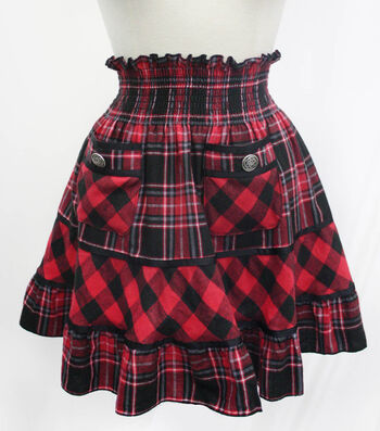 Red Flannel Skirt