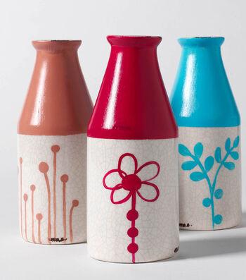 How To Make Modern Floral Milk Bottles