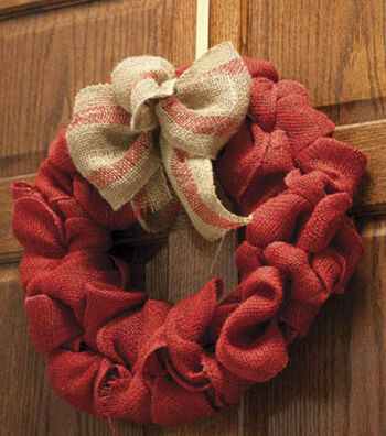 Burlap Wreath with Bow