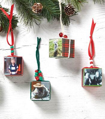 Photo Block Ornament