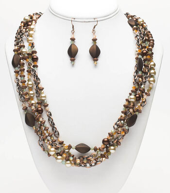 Chocolate Twist Jewelry  Set