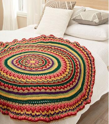 How To Crochet A Circular Mandala Throw