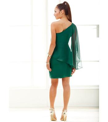 Chiffon Drape Bodice Dress