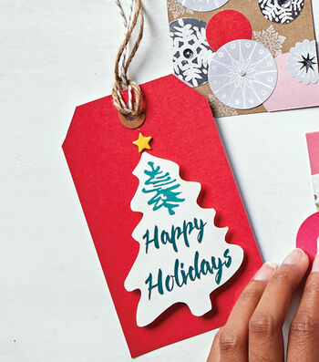 How To Make Holiday Red Gift Tags