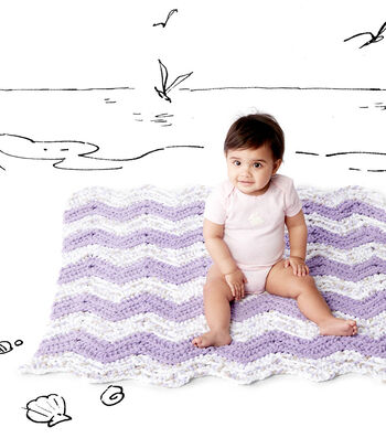 How To Make A Simple Chevron Crochet Baby Blanket
