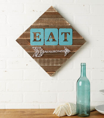 How to Make a Tin Eat Pallet and String Art