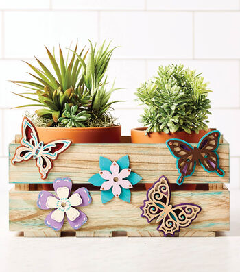 How To Make A Butterfly Flower Crate