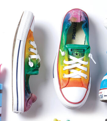 Make A Rainbow Ombré Low-Top Sneakers