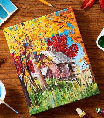 How To Make A Fall Fine Art Canvas