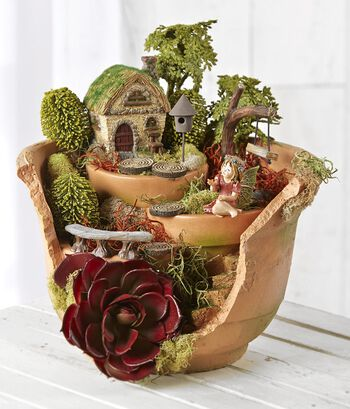 Fairy Garden Broken Pot