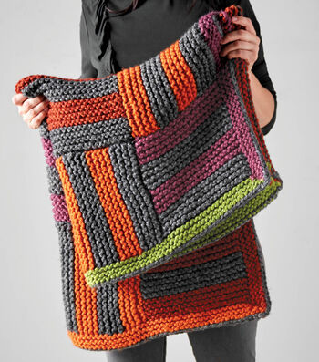 How To Make A Quick Striped Lap Blanket
