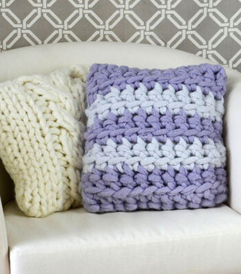 How To Make A Crochet Stripes Pillow
