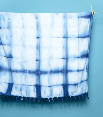 How To  Make An Itajime (Board Clamped) Shibori Beach Towel