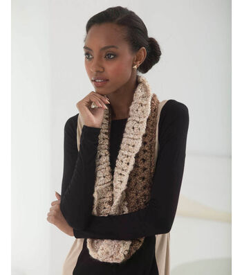 Crochet a Lion Brand Homespun Bordered Cowl