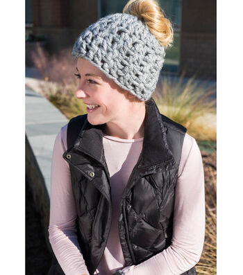 How To Crochet A Messy Bun Hat