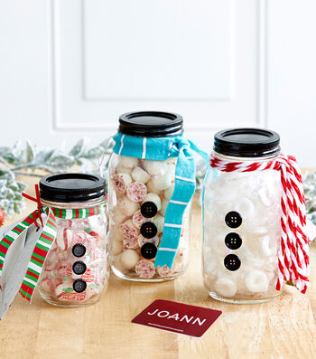 How To Make Snowman Candy Jars