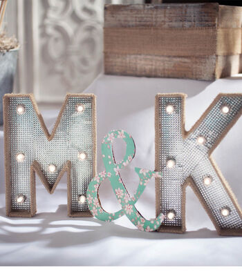 Idea Market Lit Marquee Letters