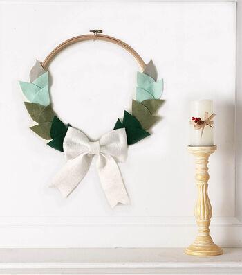 How To Make A Felt Bow Wreath Embroidery Hoop