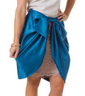 Draped Skirt with Bow